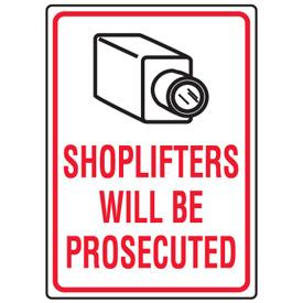 Табличка: Магазинный вор будет наказан